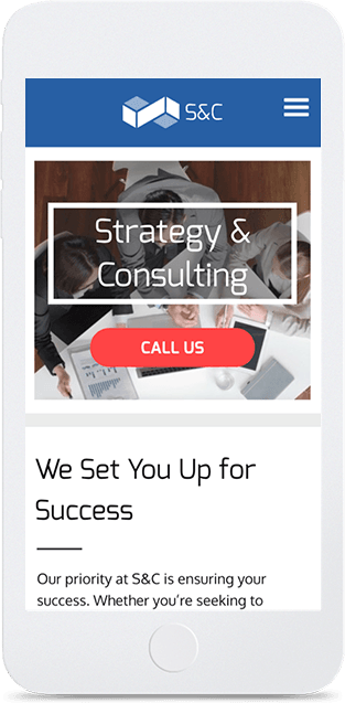Website builder Consulting responsive template