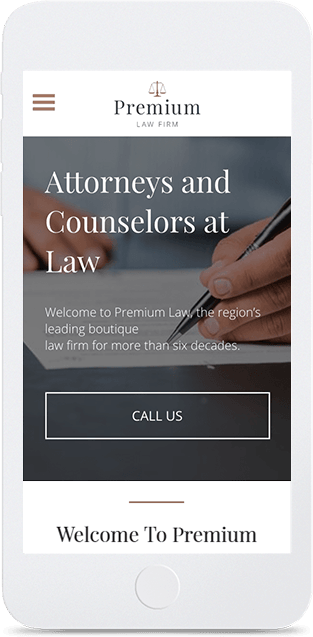 Website builder Boutique Law Firm responsive template
